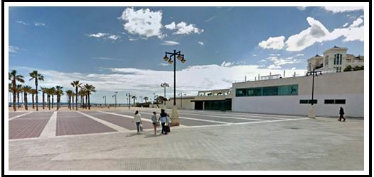 Calle Eugenia Vinyes - Plaza junto al Balneario de Las Arenas